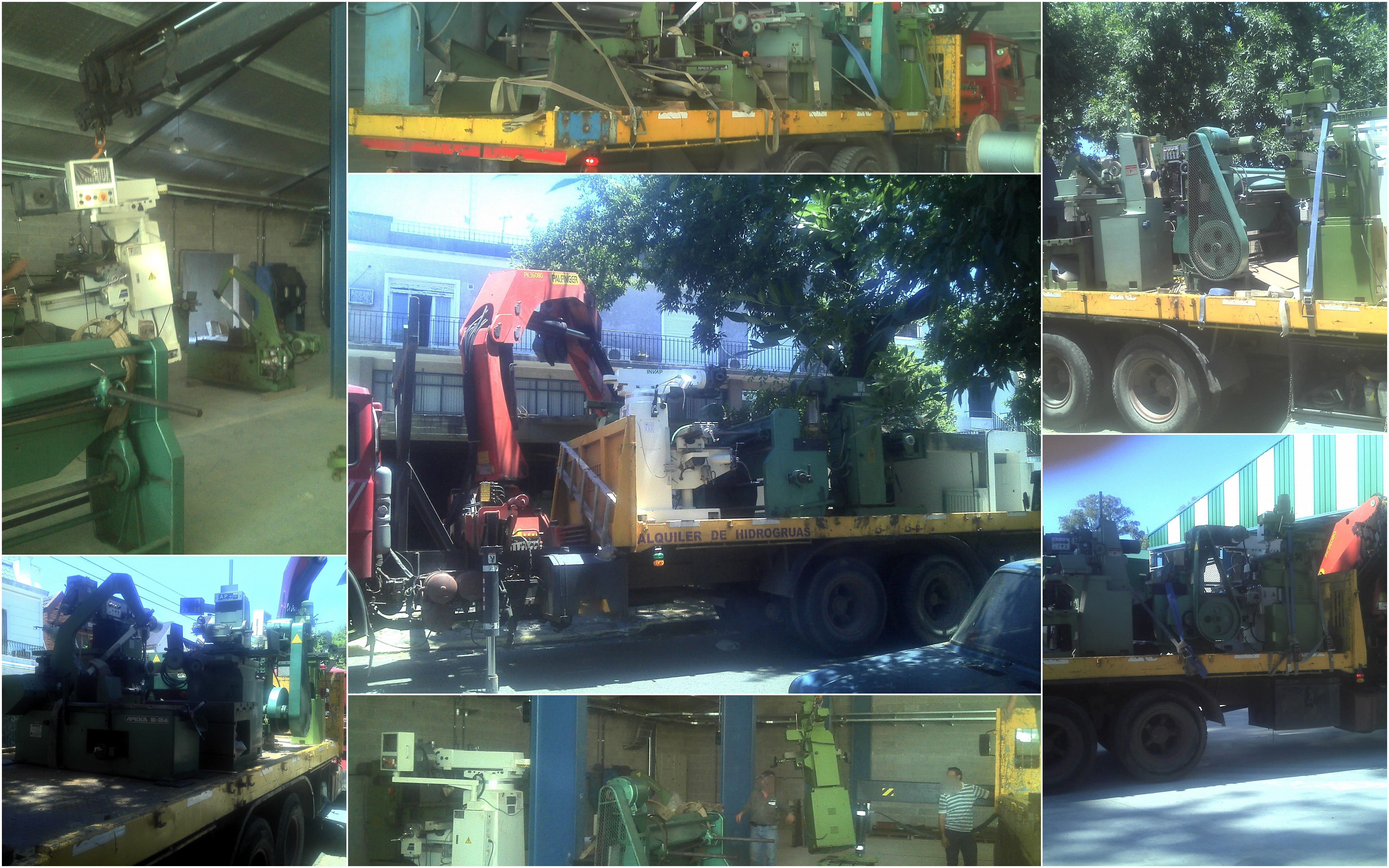Transporte FBM Moving factory - Transfer of machinery